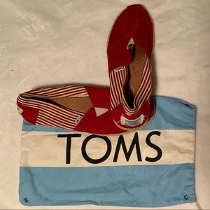 TOMS Red with Stripes